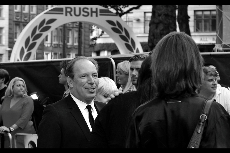 "Hans Zimmer composed the score for 'Rush' and also  ""Man of Steel""  (and also  ""The Dark Knight Rises""  and a large imdb entry's worth of other movies). A quick check of my iTunes library reveals I have just under two dozen of his soundtracks, and ten of my twenty most listened to tunes this year are by him as well. (Sorry, Linkin Park, Lady Gaga)."