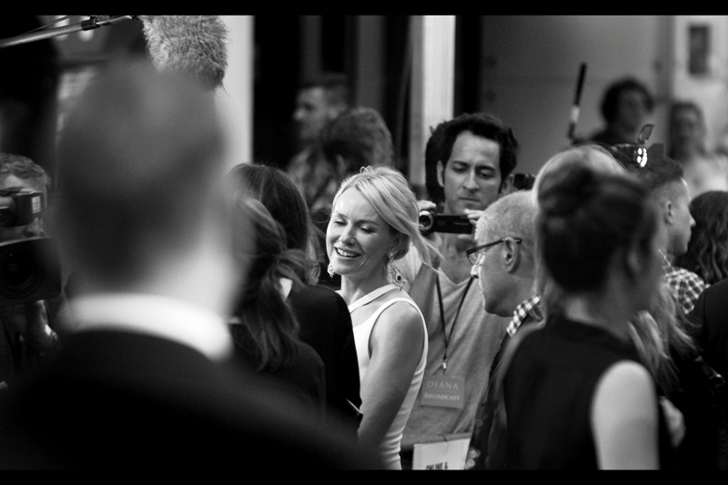 "Naomi Watts' Obama Squad part slightly and I catch a rare glimpse of the lead actress. I last photographed her and Ewan MacGregor at  the premiere of ""The Impossible"""