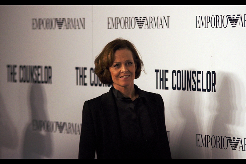 Somewhat randomly, actress Sigourney Weaver showed up. The connection being that Ridley Scott directed her in the original 'Alien', for which she the starred in the (in my opinion superior) sequel 'Aliens' and got an academy award nomination. So... good times.