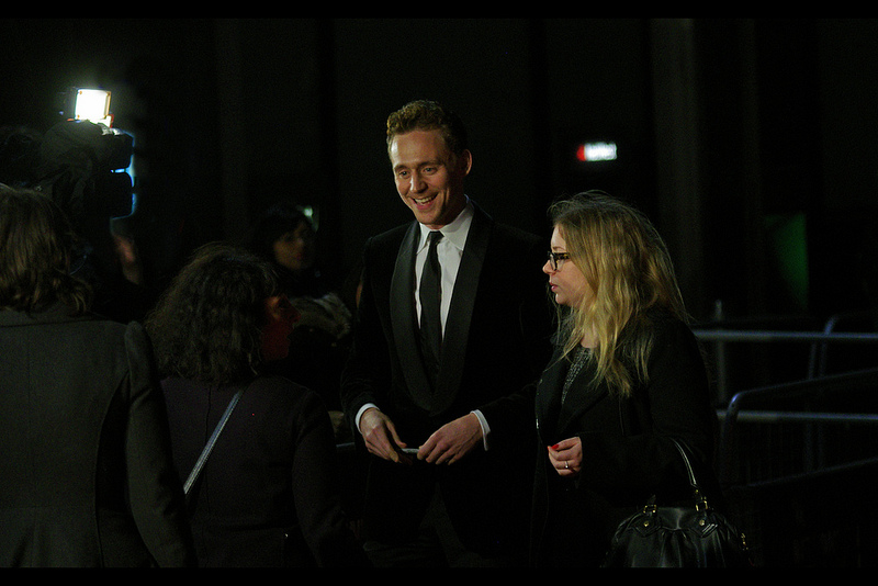 """My daughter wants to marry you. I told her 'not before I do'.""  Tom Hiddleston looks flattered."