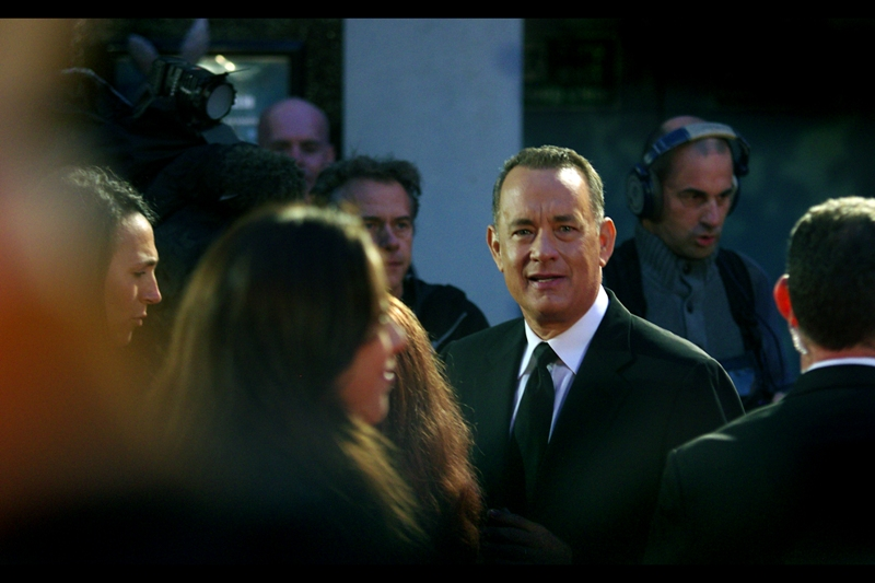 Tom Hanks was staring at me, and I was staring at Barry, still doing his *thing*
