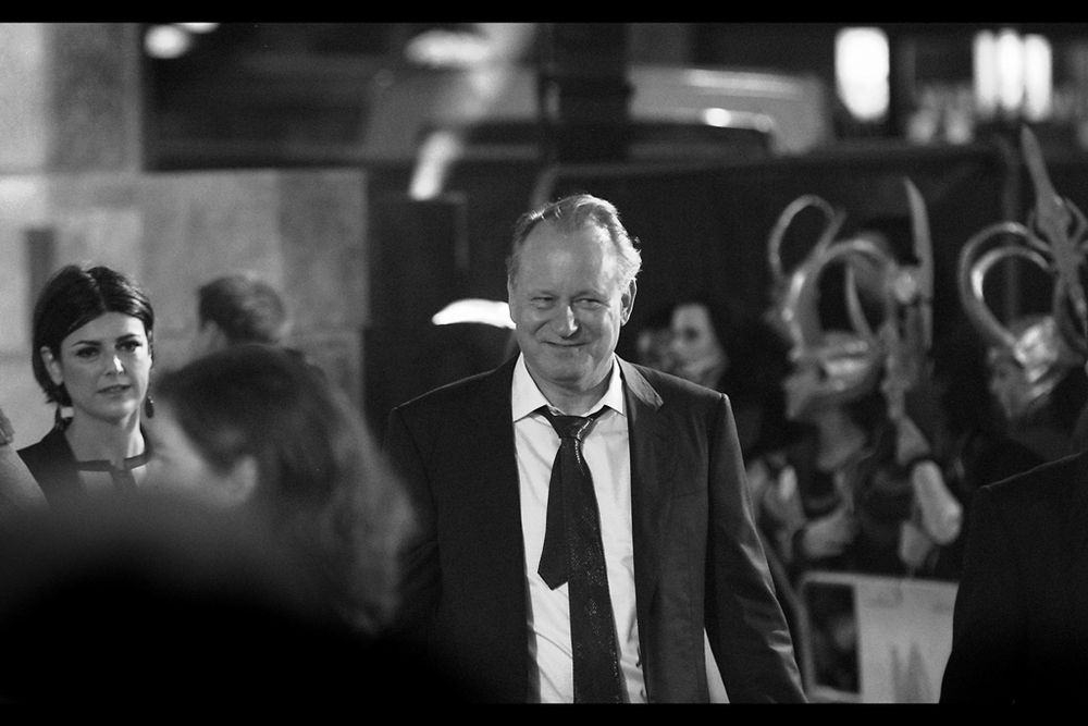 "Stellan Skarsgard plays Dr Erik Selvig in the film, and yes I know the second 'a' in 'Skarsgard' has a dot above it but it's way past my bedtime and I don't have time to look for it right now. I think I last photographed him at  the premiere of ""The Girl With The Dragon Tattoo"""