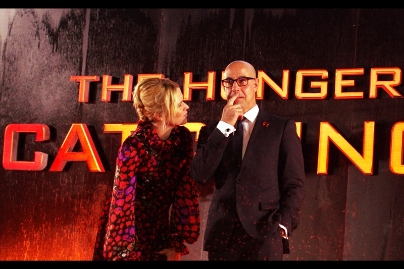 "Stanley Tucci is trying to remember whether he's signed the Petition of ""Tucci For Luthor"" in Zack Snyder's Man of Steel Sequel. Meanwhile, I'm trying to remember whether I ever got around to starting that petition. I last photographed him looking equally dashing and debonair at the premiere of Iron Man 3"