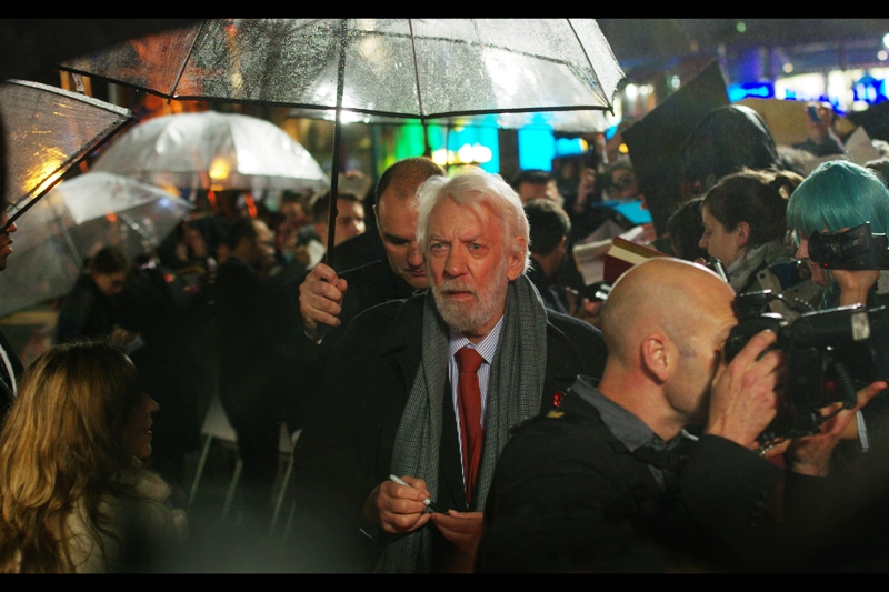 The Amazing Donald Sutherland has arrived, and he seems fairly certain he's in the right place. According to imdb he's best known for the Italian Job remake (2003), which I agree with. M*A*S*H is well before my time, I haven't watched Pride & Prejudice and I don't know Ordinary People.