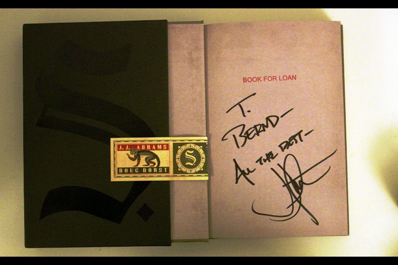 My original plan, when told that JJ Abrams would personalise the book, was to ask for the the dedication to be made out to 'JJ Abrams' HIMSELF and thus (cleverly, I thought) score a double autograph. But the Waterstones employee taking names and dedications looked at me like I was crazy, so I went with my name instead.