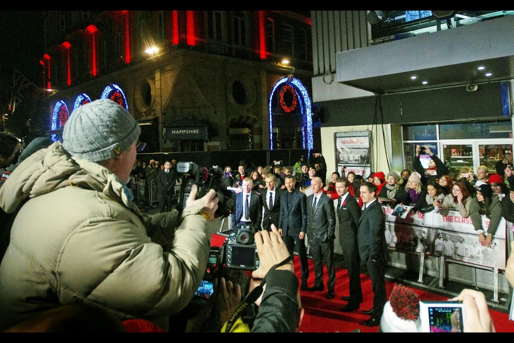 And a shot of all six of the Class of 92. Did I really bring a Monopod to a premiere because I suspected I'd have trouble getting height in this crowd? Yes, yes I did.