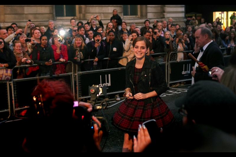 This is Emma Watson, who no longer plays Hermione Granger in the Harry Potter films because that series is finished... and Warner Bros are presumably keeping a discreet quietness around when they'll attempt a reboot.