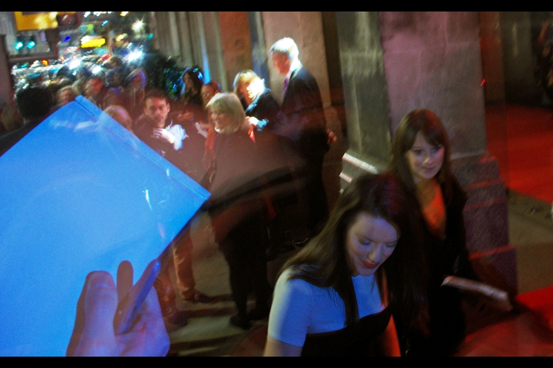 "If this is Michelle Ryan, then my skills at recognising people from blurry photos is possibly improving. I've photographed her before... but owing to various irregularities in the way Time works (ie. linearly), it won't be til next year at  the premiere of ""The Man Inside"""