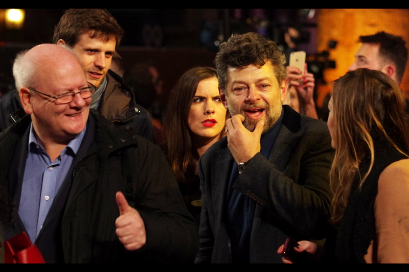 A welcome guest at this premiere is Andy Serkis - second unit director of The Hobbit as well as Gollum in Lord of the Rings (and Caesar in the 'Apes prequels/reboots). I missed photographing him at the premiere of The Hobbit : The Battle of the Five Armies on Monday.
