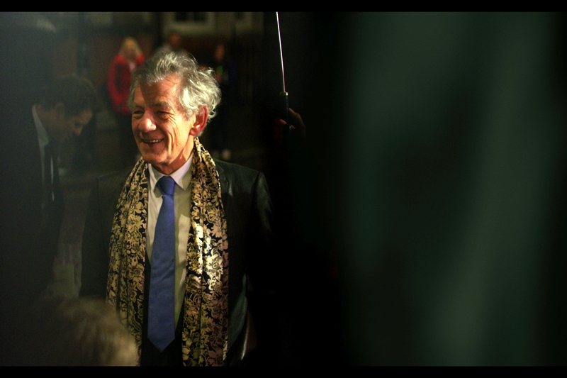 Things go from dire (for my street cred) to awesome as Sir Ian McKellen arrives to Class Up This Place. He's Gandalf in Lord of the Rings and the upcoming Hobbitses. So that's definitely not uncool right there!!