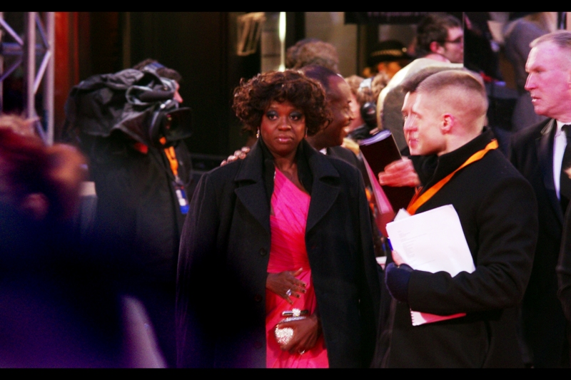 "Viola Davis from ""The Help"". Her Co-star Octavia Spencer won the Best Supporting Actress award. Despite the expression, Viola presumably doesn't know this yet."