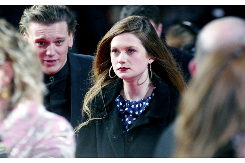 Actress Bonnie Wright (Ginny Weasley from Harry Potter) looking all Goth and Stuff.