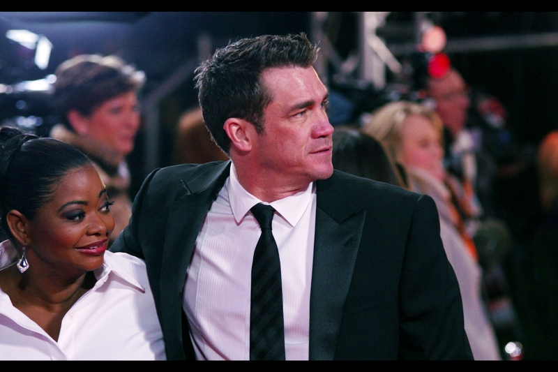 Octavia Spencer and…. argh. His face rings a bell (as does mine when I headbutt a door and miss…)
