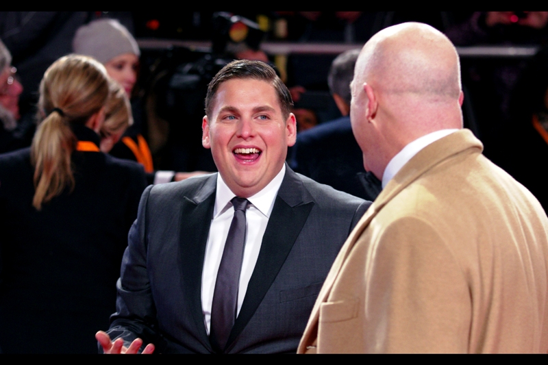 I'm still undecided on the awesomeness of Jonah Hill (I never watched 'Superbad' for one thing), but I loved 'Moneyball' and he was great in that. And tan jackets are making a comeback for bald people, I hear?