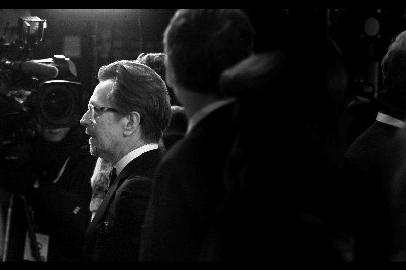 Side profile of Gary Oldman. I recently rewatched 'The Fifth Element'. Same actor. Wow. He's been massively lauded for  his role in Tinker, Tailor, Soldier, Spy