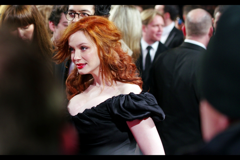 And this is Christina Hendricks, from 'Mad Men'. A show I (still) don't watch.