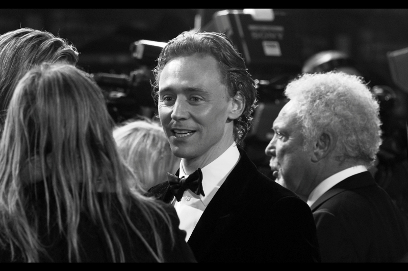 Okay, fine, one more Hiddleston shot. Because clearly Christina Ricci isn't showing up or I can't notice a pretty girl in a GOLD DRESS walking up a red carpet.