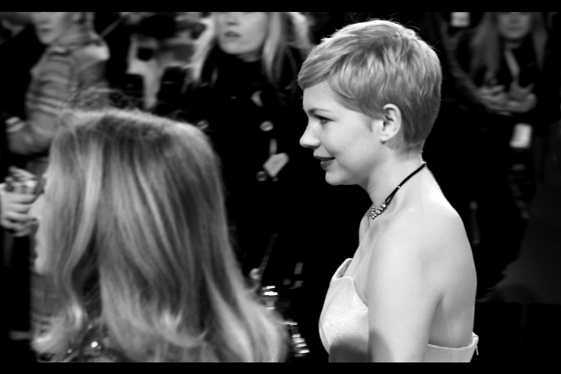 Michelle Williams (nominated for Best Actress for 'My Week With Marilyn') also zipped past.