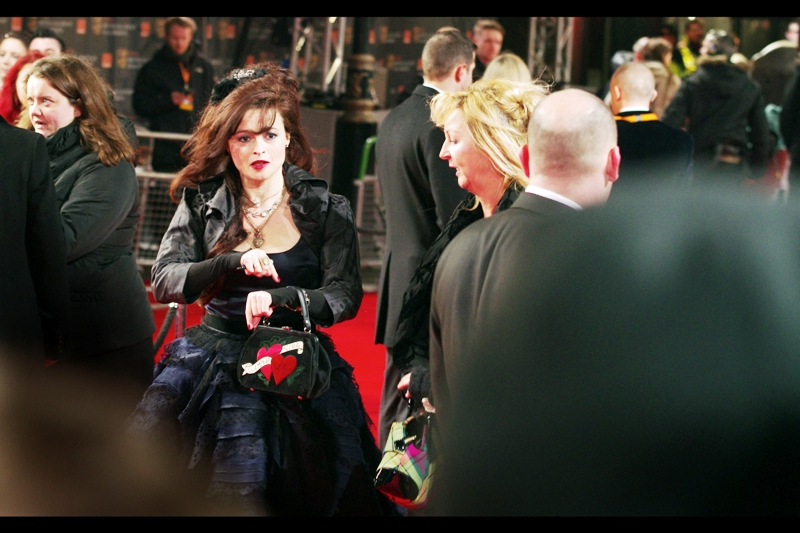 The fantastic Helena Bonham-Carter arrives late, but triumphant.