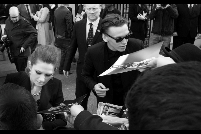 The power couple of the week award goes to Bonnie Wright (Ginny Weasley in Harry Potter) and husband Jamie Campbell-Bower (who has been in both Harry Potter AND Twilight… sadly not Hunger Games. Now that WOULD have been an achievement). Last time I saw them was at  this Year's BAFTAs , and before that, at  the premiere of Twilight : Breaking Dawn part1  (yes. it's true. I went to a Twilight premiere…)