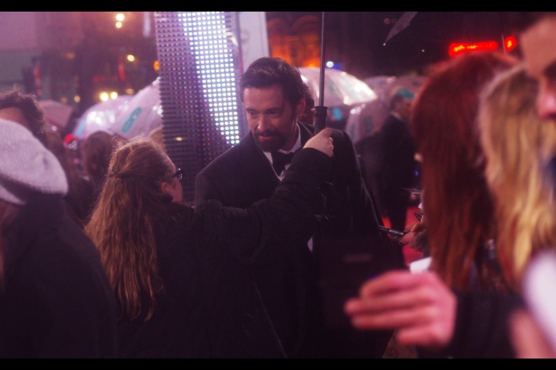 Actor, Singer, all-round nice guy and former alleged nemesis of mine Hugh Jackman shows up. Last photographed : at  the Les Miserables premiere