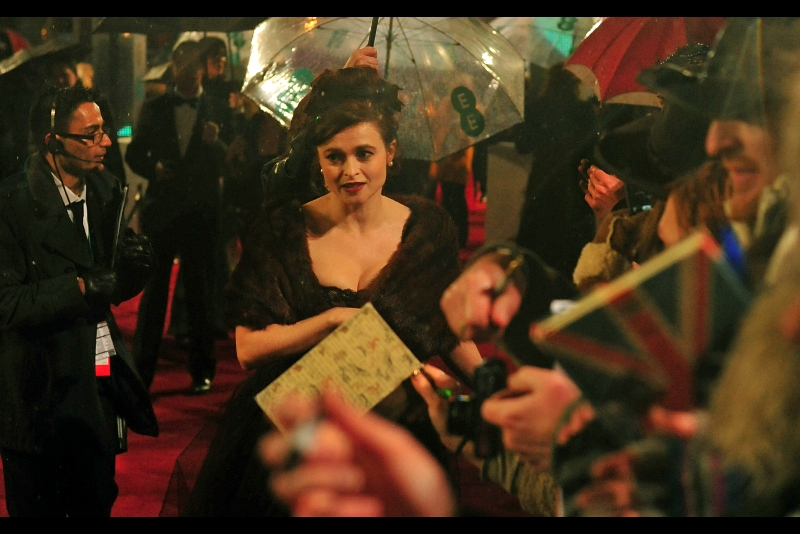 "Tim Burton's wife Helena Bonham Carter was also there – she's very nice, and is also in Les Mis as well as the recent reinterpretation of  ""Great Expectations (2012)"""