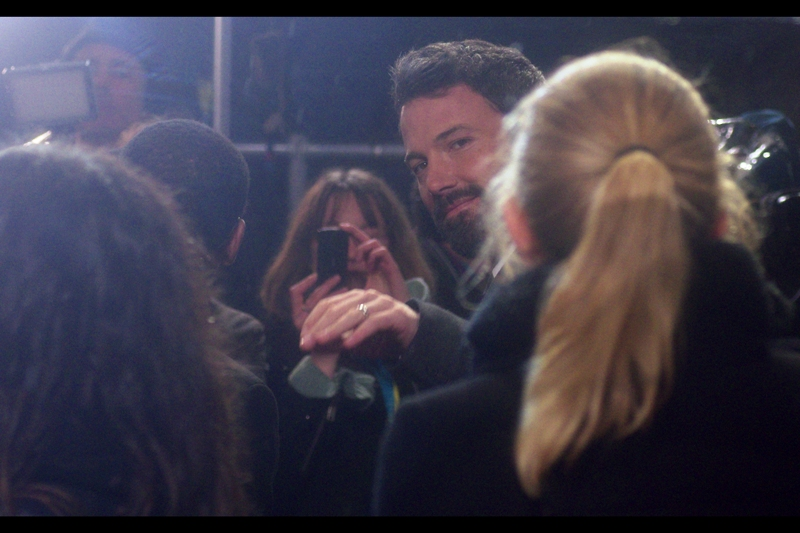 "A bit of eye-contact from the  Mighty Ben Affleck, whose film ""Argo""  won yet another Directing award for the man. Pity The Academy didn't see fit to so much as nominate him, I guess. Sorry about the weird lighting on some of these : i'm shooting INTO floodlights the media are using to interview people across from me."