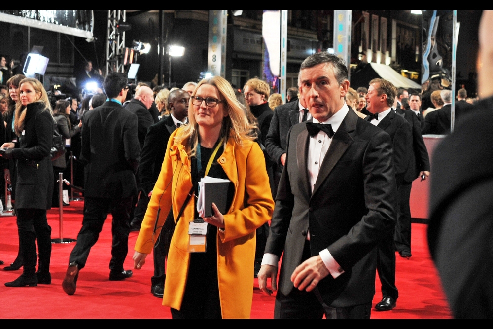 "Steve Coogan is better known as a comedian, but he was so moved by the book/story of ""Philomena"" that he optioned the rights and co-wrote the screenplay as well as starring in it. It got nominated for best film and best British film (and didn't win) but it did win best Adapted Screenplay on the night."