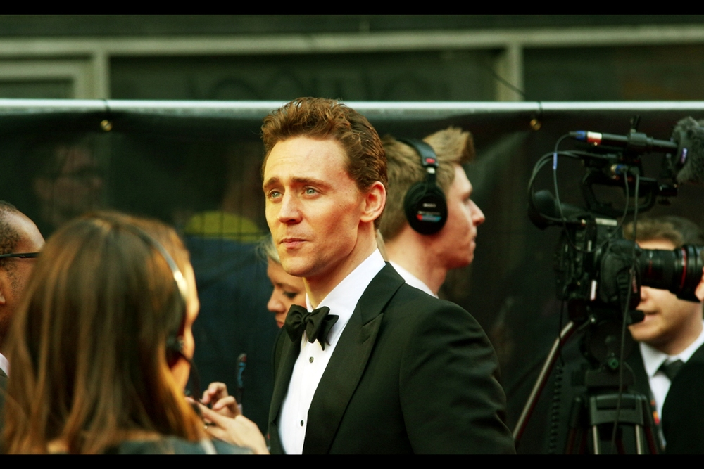 """We've checked our interview archives and if you could just stare enigmatically for twelve seconds that'll do perfectly""  Tom Hiddleston, incidentally, isn't gatecrashing the Olivier Awards – he played the title role in Coriolanus. And I didn't have to go to wikipedia to find that out."