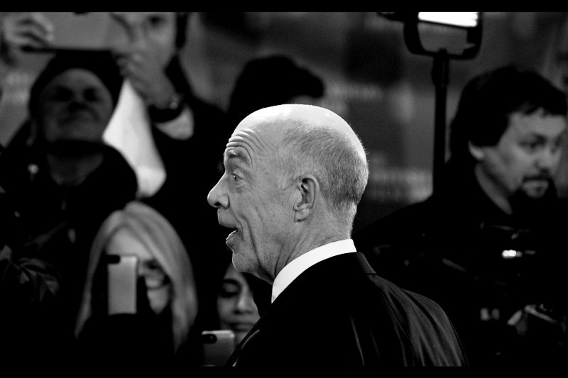 """Boyhood? It's Magical. It took them twelve years to make it, you know...""  JK Simmons won the Best Supporting Actor BAFTA Award for his role in ""Whiplash"", a premiere where I took considerably better photos of him."