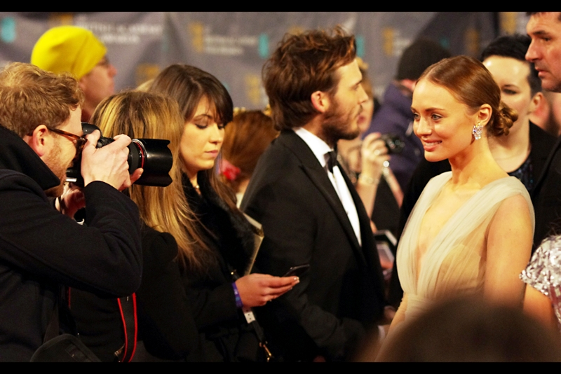 """No, I'm not Keira Knightley, but Yes, you can still photograph me"". Actress Laura Haddock is married to Sam Claflin."