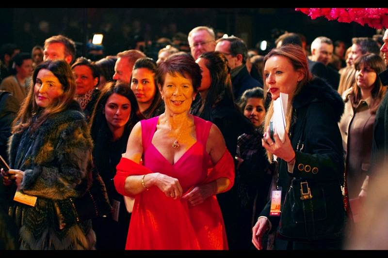 Meanwhile, Celia Imrie and I share another moment. Since the next youngest woman in this movie after her is aged 19 or something, I'm going to choose to be flattered in an age-appropriate kind of way.