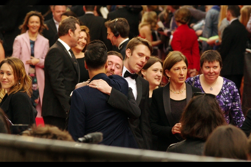"""Hold me and never let me go"". As much as I don't watch any, I think I like theatre people - they're so much more *expressive*. At movie awards, people just kind of nod and high-five or wear sunglasses and act too cool to acknowledge each other."
