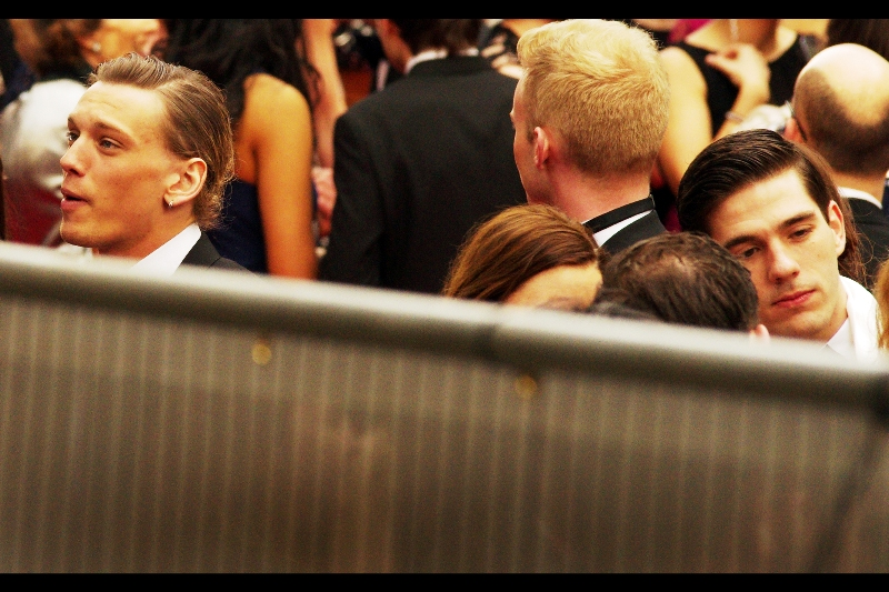 I don't know who the guy on the top left is, but there was slightly higher than average screaming when he got closer to the crowd. (OMG : I only realised afterwards that this is actor Jamie Campbell-Bower. I've never seen him without hair so windswept that I make sure to lash down all my possessions just in case a highly localised storm cell is following him around)