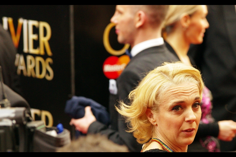 If this is Amanda Abbington (or, frankly, even if it isn't) I think that expression is 'confused disdain'.