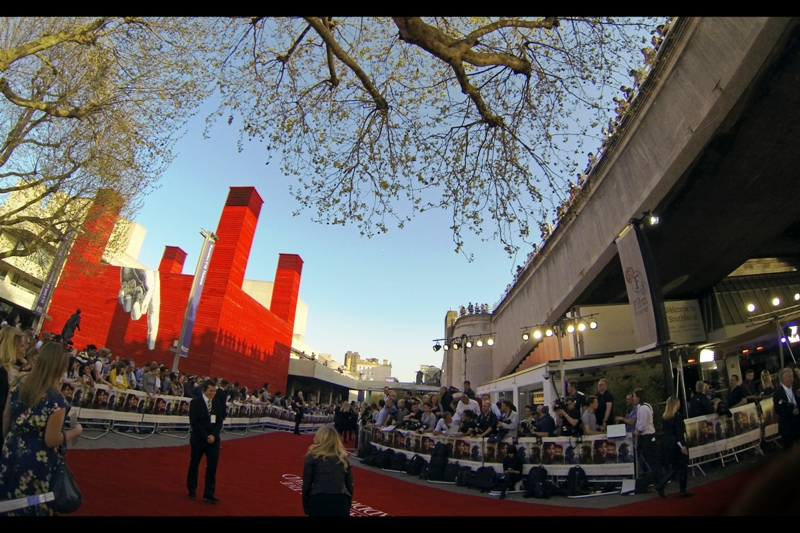 This premiere was held away from the comforts of Leicester Square and instead at the BFI Southbank. It's not a bad place to hold a premiere, and the weather was great. You should totally visit London. It's not half bad. But don't take a train. It's the wrong kind of heat for that.