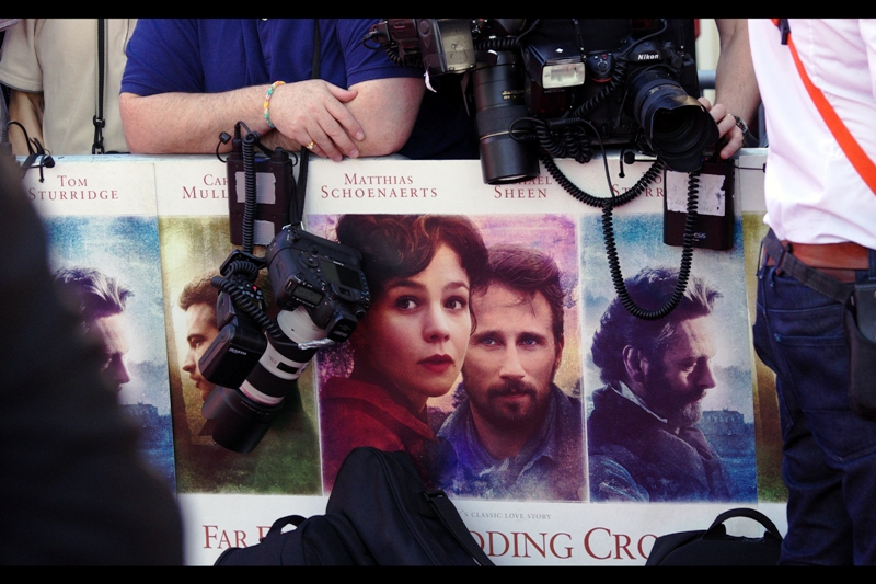 """Far From The Madding Crowd"" is a movie based on a novel written in the late 1800s by Thomas Hardy (no, not Tom Hardy, who was Bane in The Dark Knight... though the author might have been called that by his friends, I don't know)"