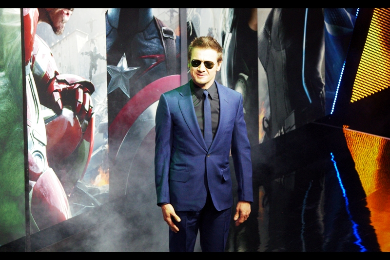 """""""Still waiting for that standalone movie, Joss....""""  Jeremy Renner plays Hawkeye in The Avengers."""