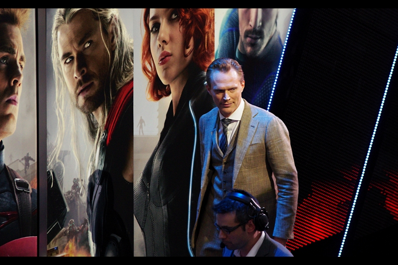 """I don't want to suggest that I'm suffering from any kind of Marvel Cinematic Universe Franchise Fatigue.... but to me Paul Bettany is The Voice Of Jarvis In Iron Man's Suit, and not some purple-faced alien/thing/character called """"Vision"""" they're also selling us on. Sorry Marvel, but my mind can retain loyalty for no more than about six superheroes at one time. Once The Avengers Membership hits a dozen, or movies can no longer be made without immediately being split into two movies I think I'm out."""