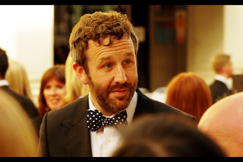 It's Chris O'Dowd!!! (I know who he is because he's also in movies) (But even if I didn't : polka dotted bow-tie is a dead giveaway of fame)