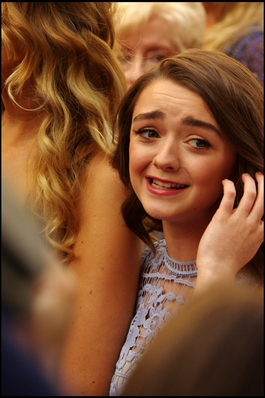 The rather impossible has happened. I said I'd only recognise somebody from TV if they were in Game of Thrones or Sherlock.... and this is Maisie Williams, who plays Arya Stark in GAME OF THRONES!!
