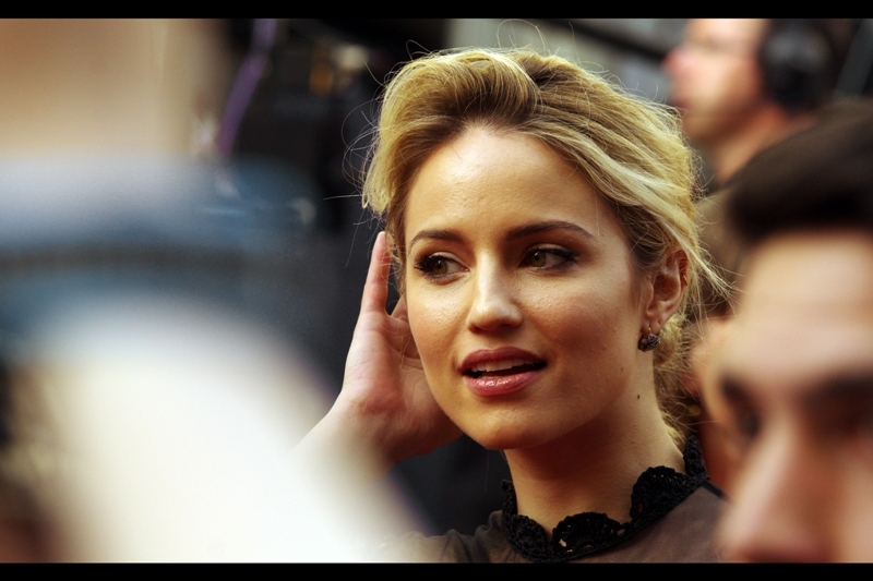 Incredibly , the streak hits three as I recognise Dianna Agron. She's best known for being (having been?) in the TV series 'Glee' but fortunately I don't actually have to admit that I watched any amount of that show, as  I photographed her at the Olivier Awards this year as well.
