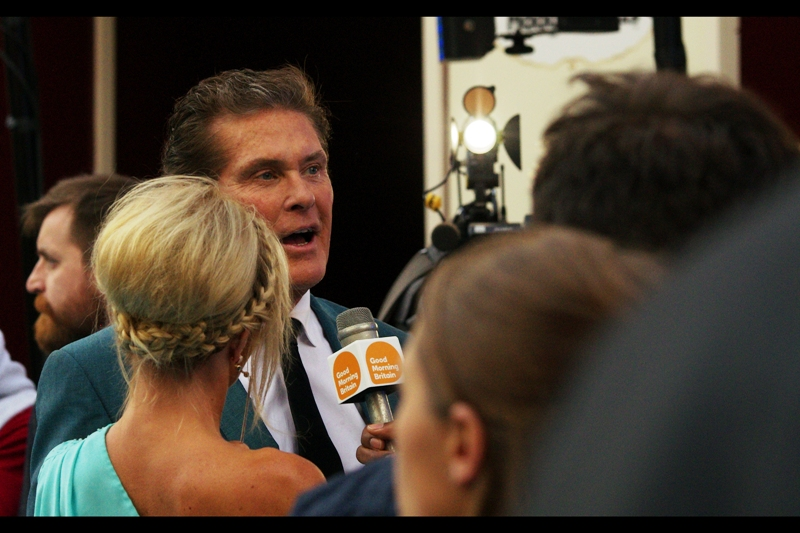 """What do I think about ""Entourage""? I'm David Hasselhoff... I'm here to promote MY film and MY image"".  Well... just so long as that's how it is..."