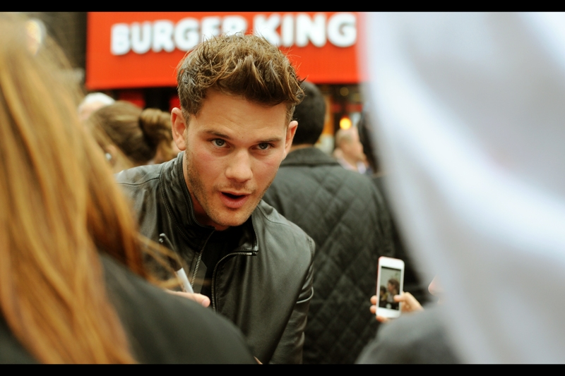 "The internet movie database cites the non-attending Talulah Riley as this film's lead actor... and Jeremy Irvine is its second lead (Jack Whitehall is sixth, as rated by starmeter<tm>). I've previously photographed Irvine at the premiere of Steven Spielberg's ""War Horse"" way back in the day..."