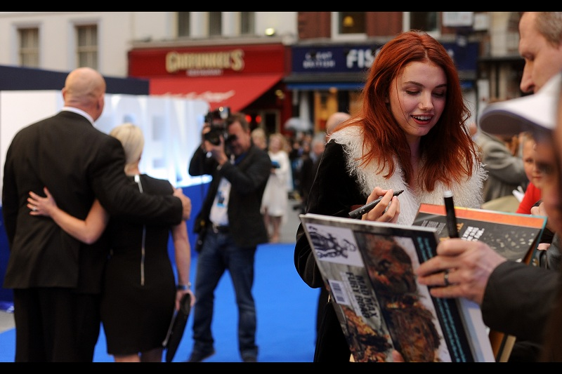 """With a cast that large, I'm surprised you remember me!""  Especially with the change in hair colour. Hannah Murray plays Gilly in 'Game of Thrones' (she's Samwell Tarly's girlfriend) - whose  season 5 world premiere at the Tower of London  seems like a long time ago."