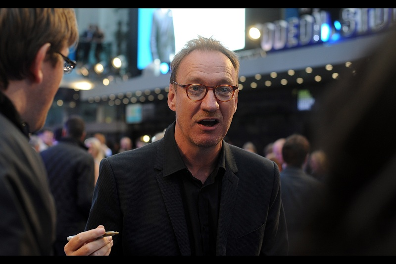 """Is brown ink okay?""  David Thewlis is still best known for being Professor Lupin in  Harry Potter , but he's also been in such films as  The Theory of Everything , Kingdom of Heaven, Seven Years in Tibet, Zero Theorem and  War Horse ... none of which he was a werewolf in."