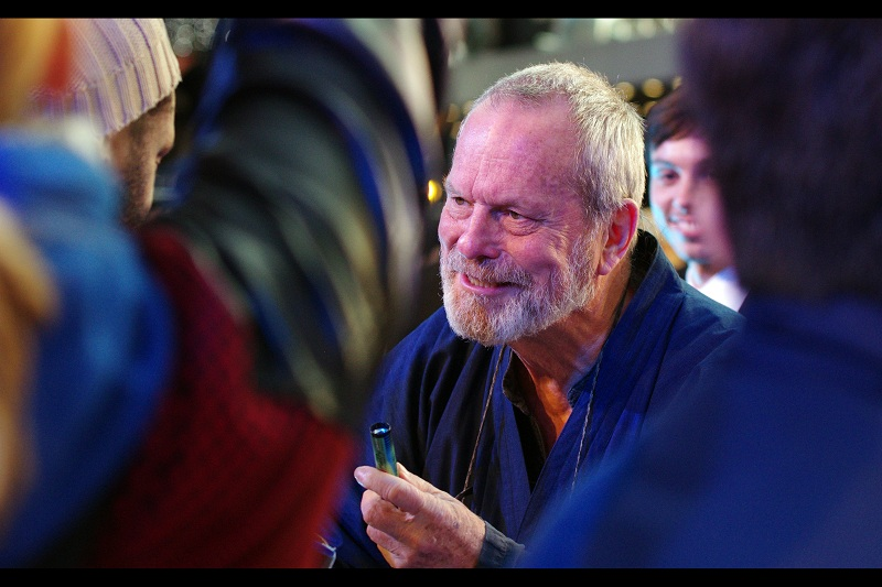 Director Terry Gilliam (who directed David Thewlis in The Zero Theorem) showed up, sadly not wearing one of his fantastic dish-towel capes.