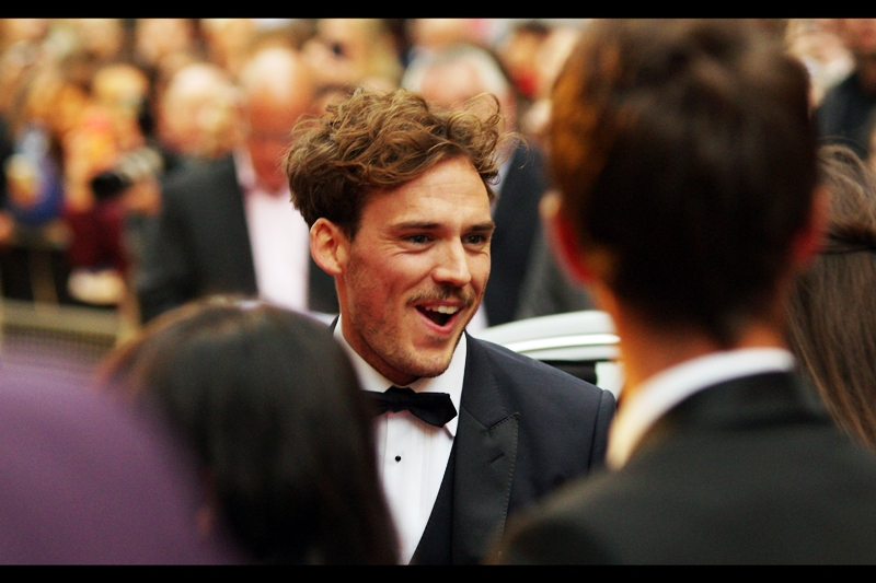 """You can't just get anyone to tousle your hair and have it look as great as this""  actor Sam Claflin is best known for his roles in (and memorable facial expressions at the premieres of)  The Hunger Games  films,  Love Rosie  and  The Quiet Ones"