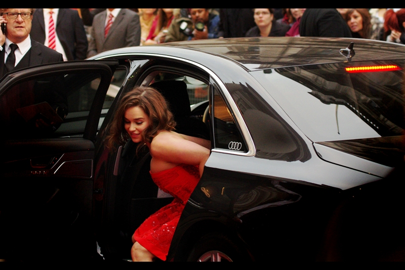 Why yes, I feel it is necessary to take a second photo of Emilia Clarke exiting a car at this event. She won the 'award' for 'Woman' on the night and, yes, certainly, she meets the criteria for that..
