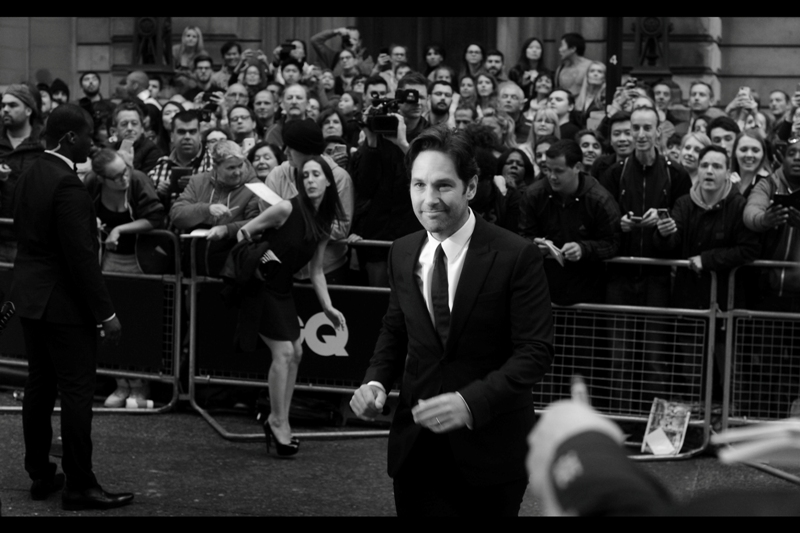 "I last photographed Paul Rudd at  the premiere of Disney's (or 'Marvel's') ""Ant-Man""  a few months back. He looks.... taller since then."